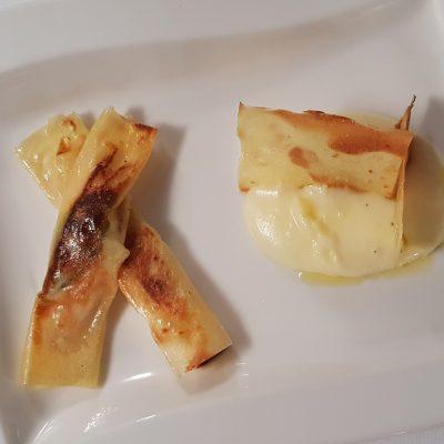 italian fish and chips: filetti di triglia in sfoglia di patata di Bologna DOP